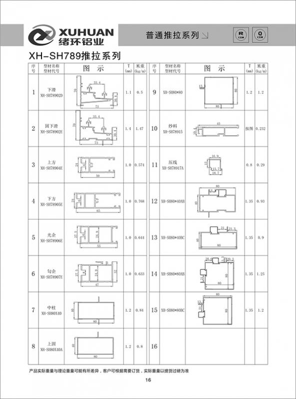 XH-SH789推拉系列